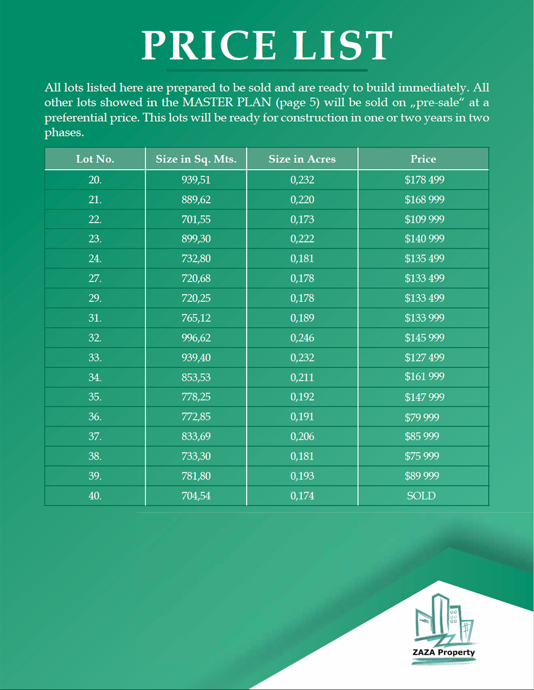 PRICE LIST_ZaZa_Property